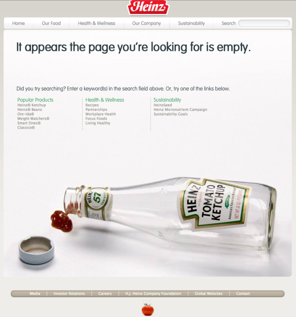 The Page (And bottle) is empty
